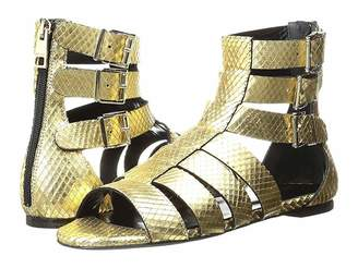 Just Cavalli Python Leather Sandal Women's Shoes