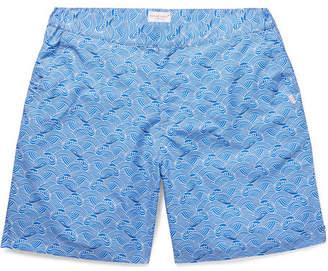 Derek Rose Mid-Length Printed Swim Shorts