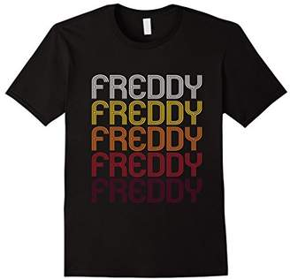 Freddy Retro Wordmark Pattern - Vintage Style T-shirt