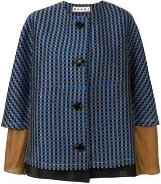 Marni micro-pattern jacket
