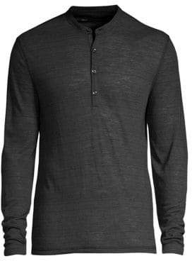 John Varvatos Long-Sleeve Henley Tee