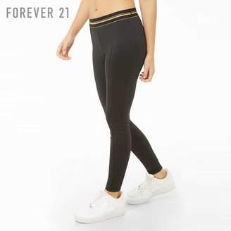 Forever 21 (フォーエバー 21) - Forever 21 メタリックトリムスポーツレギンス