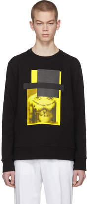 Neil Barrett Black and Yellow Do Wrong To None, Trust A Few Sweatshirt