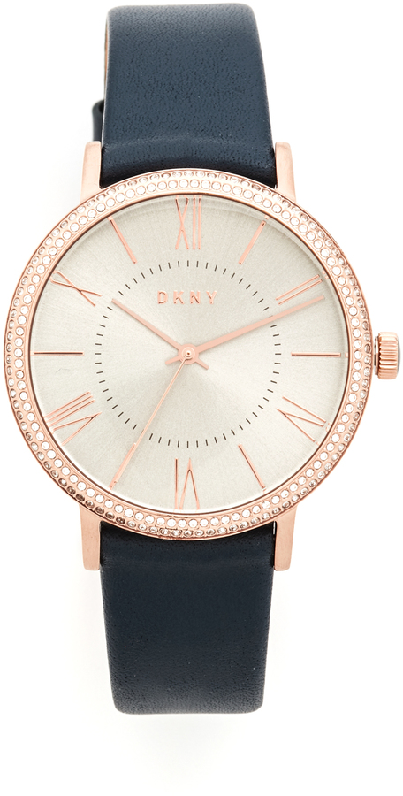 DKNYDKNY Willoughby Leather Strap Watch
