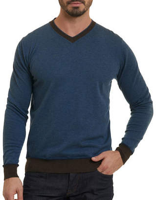 Robert Graham Wool V-Neck Sweater