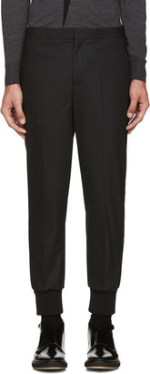 Neil Barrett Black Tuxedo Trousers $590 thestylecure.com