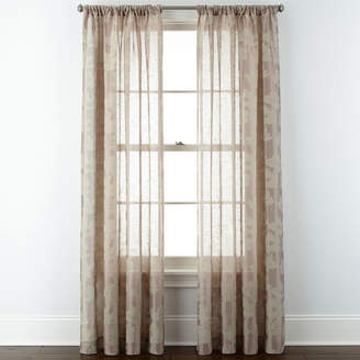Liz Claiborne Giselle Floral Rod-Pocket Curtain Panel
