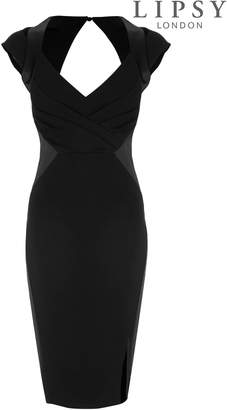 Next Lipsy Satin Panel Bodycon Dress - 4