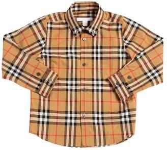 Burberry Check Cotton Poplin Shirt