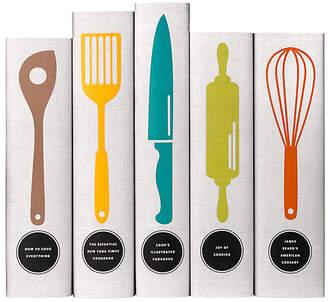 Set of 5 Classic Cookbooks Utensil Books - Juniper Books