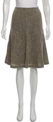 Oscar de la Renta Bouclé Wool Skirt w/ Tags