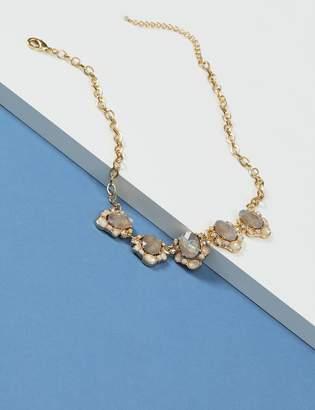 Irridescent Stone Statement Necklace