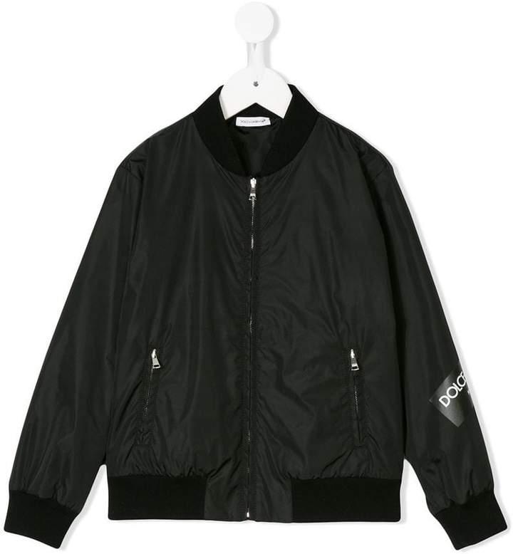 logo print bomber jacket
