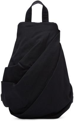 Yohji Yamamoto Black Draped Backpack $750 thestylecure.com