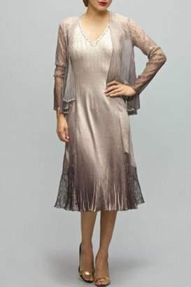Komarov Ombre Dress Set $418 thestylecure.com