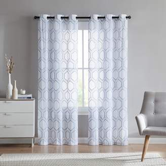 Vcny VCNY 2-pack Empire Embroidered Sheer Window Curtains