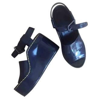 Celine Navy Patent leather Sandals
