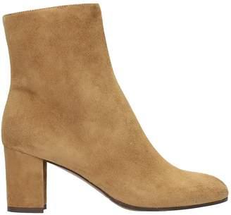L'Autre Chose Camel Suede Leather Ankle Boots