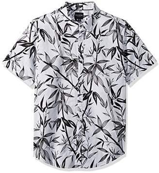 GUESS Men's Short Sleeve Bamboo Print Shirt