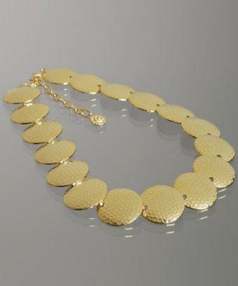 R.J. Graziano gold hammered disc choker