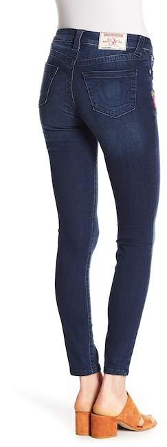 True Religion Embroidered Super Skinny Jeans