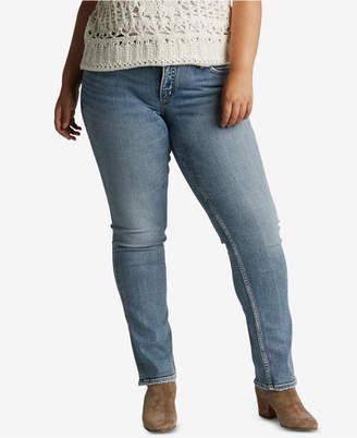Silver Jeans Co. Plus Size Suki Straight-Leg Jeans