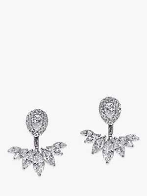 d947889df CARAT* London Srya 2 in 1 Ear Jackets and Stud Earrings, Silver