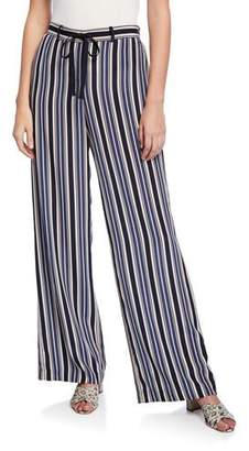 d25457cda917 Lafayette 148 New York Columbus Painted Desert Stripe Wide-Leg Drawstring  Pants