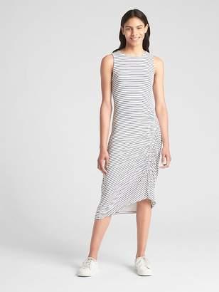 Gap Sleeveless Ruched Midi Dress