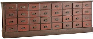 Rejuvenation Extra Long 32-Drawer American Apothecary Counter