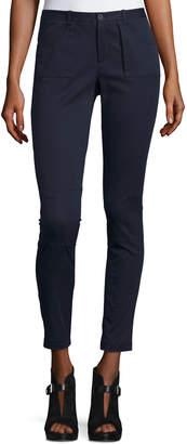 ATM Anthony Thomas Melillo Skinny Stretch Twill Moto Pants, Midnight