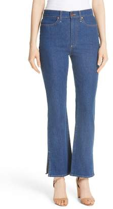 Alice + Olivia AO.LA Fabulous High Waist Baby Bootcut Jeans (Enough Said)