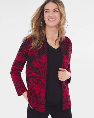 Patterned Jacquard Cardigan