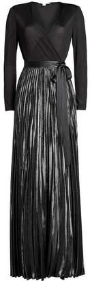 Diane von Furstenberg Wrap Gown with Bow