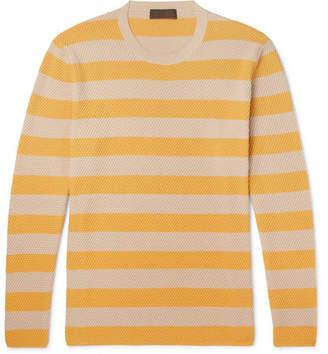 Altea Striped Textured-cotton Sweater