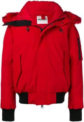 Kenzo faux fur trimmed puffer jacket