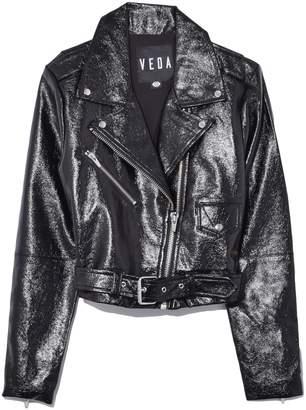 Veda Vinyl Baby Jane Jacket in Black