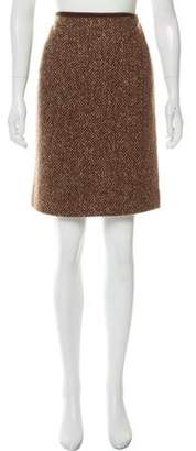Ralph Lauren Tweed Knee-Length Skirt