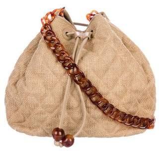 Chanel Drawstring Burlap Bag
