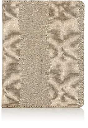 Barneys New York Lizard-Embossed Leather Refillable Journal - Brown