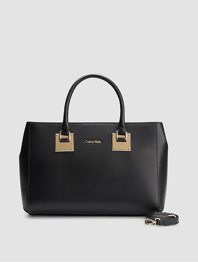 Calvin Klein Emma Leather Satchel