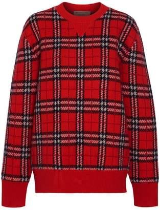 Burberry Check Cashmere Jacquard Sweater
