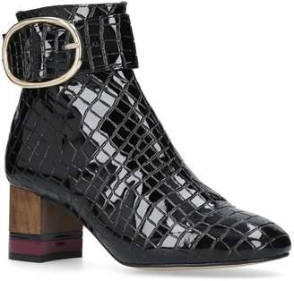 Kurt Geiger London Ringo Leather Ankle Boots
