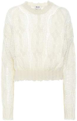 Acne Studios Frayed mohair-blend sweater
