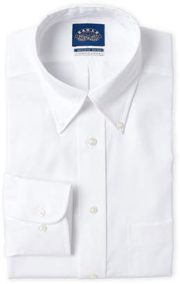 Eagle White Solid Regular Fit Dress Shirt