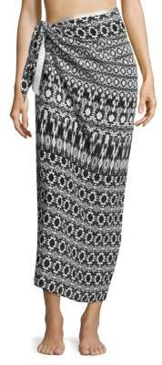Marie France Van Damme Sarong Silk Skirt