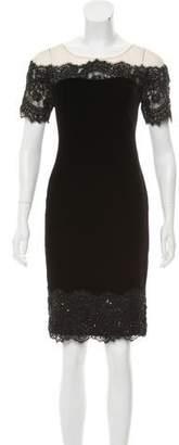 Marchesa Velvet Knee-Length Dress