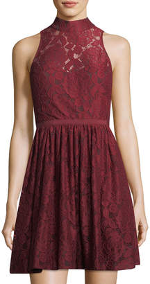 LIKELY Southport Lace High-Neck Dress