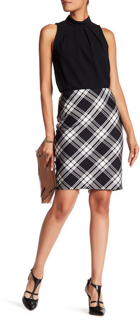 Trina Turk Crissy 2 Plaid Skirt