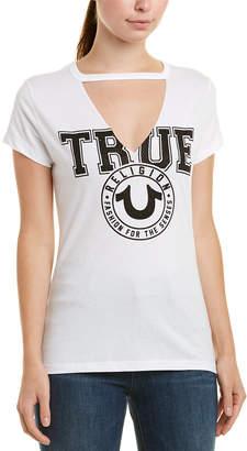 True Religion Circle Crest Cutout T-Shirt
